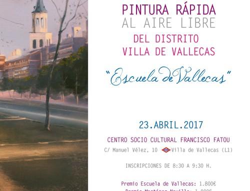 XII Certamen de Pintura Rápida al Aire Libre Escuela de Vallecas