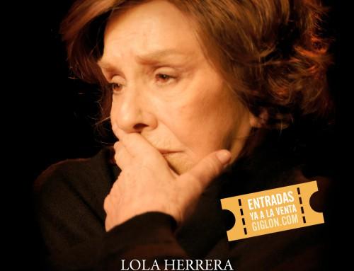 """Lola Herrera en el C.C. Sanchinarro con """"Cinco Horas Con Mario"""" en abril"""