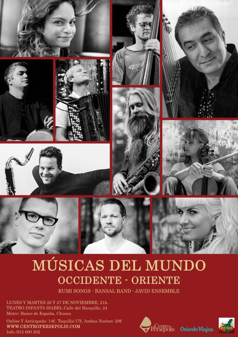 """Concierto """"Músicas del Mundo"""" con destacados artistas de oriente y occidente en Madrid"""
