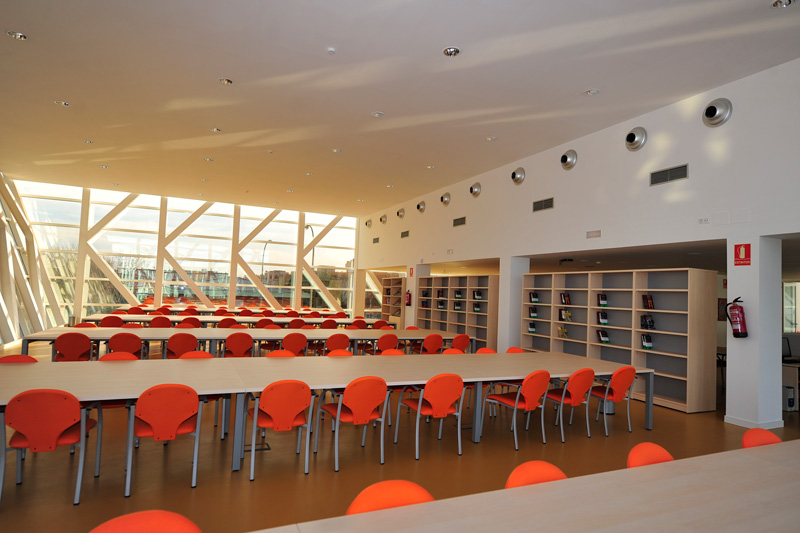 Sala de estudio de la Caja del Arte de Torrejón
