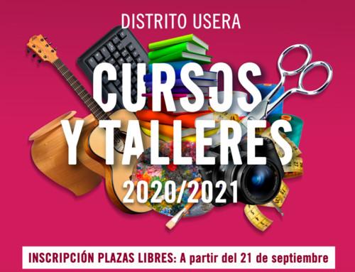 Inscripción plazas libres en los Cursos y talleres 2020/2021 del distrito de Usera