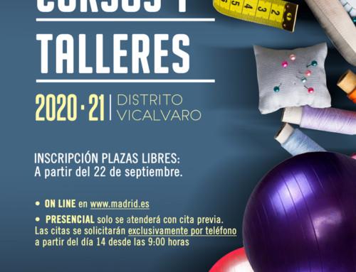 Cursos y talleres 2020/21 en el distrito de Vicálvaro
