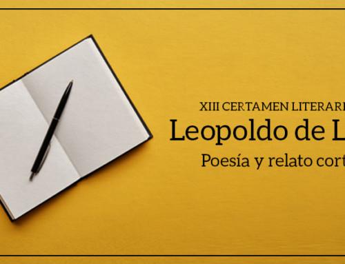 """El Distrito de Tetuán convoca el XIII Certamen Literario """"Leopoldo de Luis"""" de Poesía y Relato Corto."""