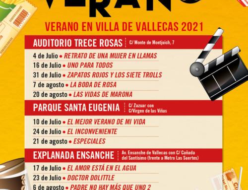 Cine de verano 2021 en Villa de Vallecas